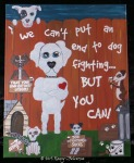 Pet Rescue Art, Dog Fighting Sucks Art, Graffiti Art, Dog Painting, Dog Mom Gift