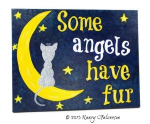 cat painting, cat wall art, cat memorial, loss of cat, gift for loss of cat, cat art