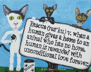 cat rescue art, cat rescue, cat art, cat wall art
