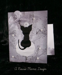 cat sympathy card, card for loss of cat, death of cat card, cat condolences, cat loss, The Rescue Mama, Nancy Halverson