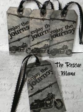 biker gift tags, biker gift, biker gift wrap