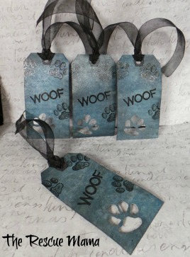 Paw Print gift tags, dog themed gift tags
