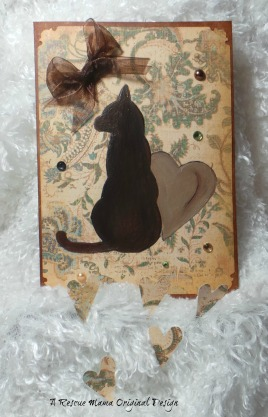 cat sympathy card, card for loss of cat, death of cat card, cat condolences, The Rescue Mama