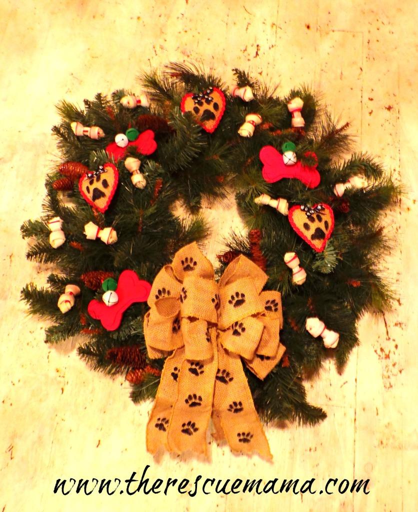 wreath white floor