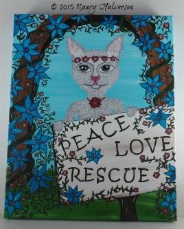 Pet Rescue Art, Pawffiti, Graffiti Art, Cat Painting, Cat Mom Gift., Cat Rescue Art
