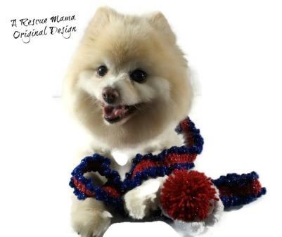 patriotic dog leash, parade dog, red white blue dog leash, crochet dog leash