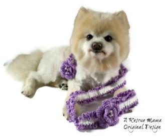 Lavender Dog Leash, Crochet Dog Leash, Purple Dog Leash , Gift for dog mom, Purple leash
